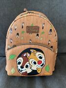 Loungefly Disney Chip And Dale Mini Backpack Bag Nwt
