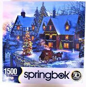 Springbok 1500 Piece Jigsaw Puzzle Home For Christmas - New Factory Sealed