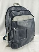 Piquadro Mens Leather Vibe Computer Backpack Blue 2 Navy