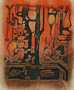 Signed Merten Dated 1972 - Abstract Composition