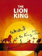Matthew Broderick And Jeremy Irons Signed 10x8 Photo - The Lion King - Disney Acoa