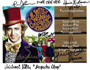Willy Wonka And The Chocolate Factory Cast Signed 10x8 Photo - Ostrum Cole + 4