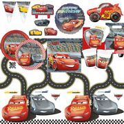 Disney Cars 3 Mcqueen Party Supplies Tableware, Decorations And Balloons