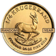Great 1st Gold Coin South Africa 1/4 Oz Gold Krugerrand Any Year Au