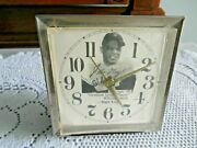 Vintage Willie May 1958 Functioning Wind Up Alarm Clock 5 X 4-1/2