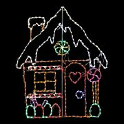 Christmas Gingerbread House Candy Led Light Display Yard Art Decoration