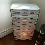 White Lacquer Antique Chinese Commode