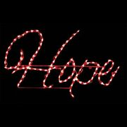 Christmas Light Display Hope Led Red Yard Art Lawn Sign Lighted Wireframe