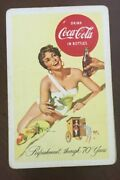 Vintage Refreshment Through 70 Years Coca Cola Playing Cards And Box Original