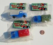 3 Packages Trucks Vintage Dime Store Toy Grand Prix Race Cars Hong Kong