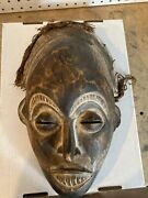 Vintage Hand Carved Wooden African Tribal Hanging Mask 15 X 9andrdquo