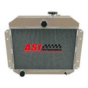 Asi 4 Row Aluminum Radiator For 1951-1953 Jeep Willys Station Wagon Pickup L6