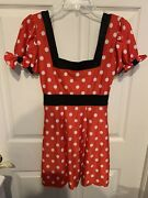 New J. Valentine Sexy Minnie Mouse Costume Red White Adult Size Xxl Dress And Ears