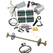 Complete Rear End Axle Assembly + 48v 1800w Electric Brushless Motor Controller