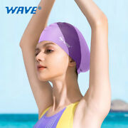 Waterproof Silicone Sports Adult Long Hair Unisex Ear-protecting Swimming Cap