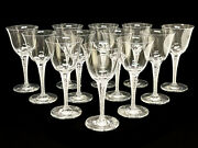 12 Lalique France Water Glass Goblets In Treves With Boxes