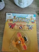 Tomy Retro Plane 1982 Wind Up Toy - Two Wing Bi Plane - New Sealed In Pack