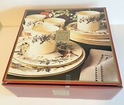 Lenox Winter Greetings Christmas Red Ribbon Holly Berry 12 Piece Place Set Mib