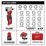 Milwaukee Tool M12 Cable Stripper Kit With 17 Cu Thhn / Xhhw Bushings