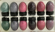 Lot Of 12 Polished Marble Eggs On Stands Beautiful Nib