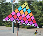 4.3m Magic Square Delta Kite Nylon Cloth With Flying Tools And Good Flying New