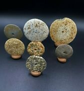 Old Antique Ancient Stone Age Stone Jewelry Bead Pendant Lot