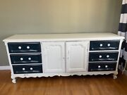 Drexel Antique Dresser With 9 Drawers