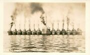 Rare Military Uss Kahawha Old Hen And Chicken Rppc 20s Bunnell Photo Postcard