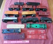 Lot Of Lionel And Marx Trains O Used And Parts Santa Fe Boxcar Baby Ruth Caboose