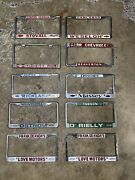 Lot Of 10 Vintage Chevrolet License Plate Frame Collection G8 California Etc