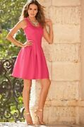 Boston Proper 6 Forget Me Not Hot Pink Dress Scuba Beach Babe Surfer New Tag 98