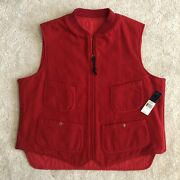 New 395 Polo Country Wool Reversible Quilted Hunting Cargo Vest Xl