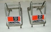 Uniroyal Signs Tire Stand Racks 2 Piece For 20 Bicycle Fastrack Slick 1960and039s-