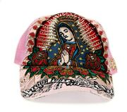 Vintage Four 41 Hat 441 Our Lady Of Guadalupe Specialty Stone Cap Adult Pink