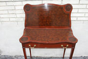 Great English Hepplewhite Mahogany Leather Flip Top Game Card Table C. 1920