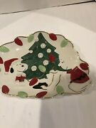 """Lenox Charlie Brown And Snoopy Holiday Plate 11"""""""