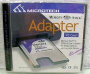 Memory Stick To Pcmcia Type Ii Pc Card Adapter By Microtech Sony Scm For Camera