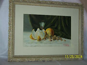 Charles E.drake Listed Artist-original C1894 Water Color Still Life Painting