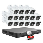 Annke H.265+ 16ch 4k Dvr 8mp Full Color Day/night Home Security Camera System 2t