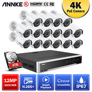 Annke 32ch 12mp H.265+nvr 8mp 4k Ip Network Camera Security Home Poe System Ir