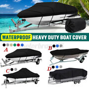Trailerable Boat Cover Heavy Duty Waterproof Uv Resistant Runabout Protector Usa