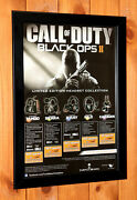 Call Of Duty Black Ops Ii 2 Ps3 Xbox 360 Rare Mini Promo Poster / Ad Page Framed