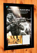 Call Of Duty Black Ops Ii 2 Ps3 Xbox 360 Rare Mini Promo Poster Ad Page Framed