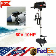 New Hangkai 60v 2200w Brushless Electric Boat Outboard Motor With 10hp Output Us