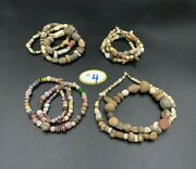 Ancient Roman Dynasty Era Glass Agate Shell Clay Jewelry Antique Bead Necklace