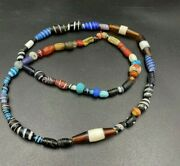 Late 17 Century Antique Trade Old Vintage Jewelry Multi Color Glass Beads Lot