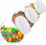 Candy Jar, Jars With Lids, Cookie For Kitchen Counter, Plastic Buffet Party 3