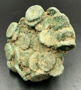 Ancient Indo-greek Kushan Empire Bunch Of Bronze Coins Circa 2nd Century Bc