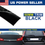 Black 250mm Car Door Side Tailgate Decorate Styling Exterior Trim Molding 9ft