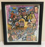 Charles Fazzino 3d Serigraph Rock N Roll 1990 Signed 46/475 Hollywood Posters